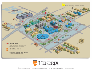 Hendrix College campus map.